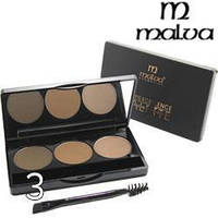 Тени для бровей Malva Cosmetics Excellence Palette Eyebrow Highlight РМ5001 №03