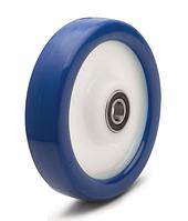 Колесо с диском из полиамида-6 и синим полиуретаном, диаметр 125 мм. Серия 40