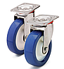Колесо поліамід/синій поліуретан, діаметр 250 мм, з поворотним среднеусиленным кронштейном. Серія 40