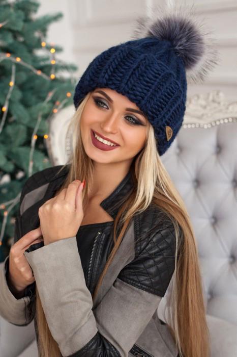 """Женская шапка """"Хайли"""" Джинс"""