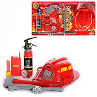 Пожарный набор 9905-А 7-м предметов с Каской Лист 63х34см
