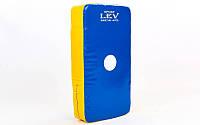 Макивара для тхэквондо Лев UR LV-4284 (поддержка для рук, р-р 25x45x9см, синий, красный)