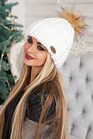 """Женская шапка """"Хайли"""" Белый"""