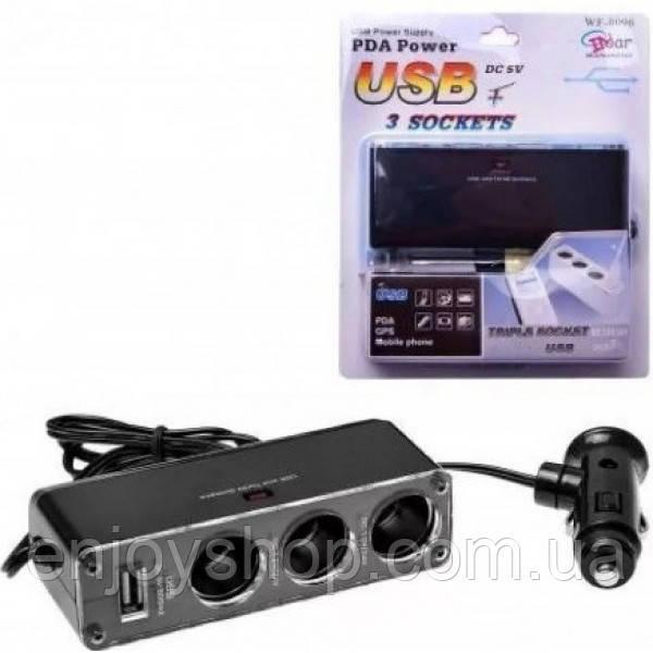 Разветвитель прикуривателя WF-0096 USB