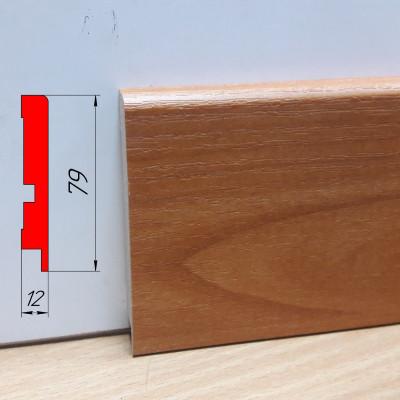 Плинтус МДФ с имитацией дерева, высотой 79 мм, 2,8 м Вишня
