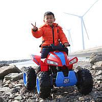 Детский квадроцикл M 3607 EL-3-4: 12V, 180W, EVA-колеса, кожа - КРАСНО-СИНИЙ - купить оптом, фото 1