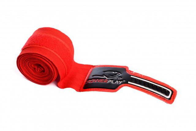 Бинты боксерские PowerPlay - 1583 - PP 3046 (4 м) красные
