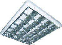Светильник растровый накладной 600*600 ЛПО 4*18  ЛЕД (корпус)