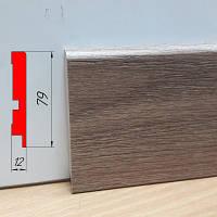 Прямоугольный плинтус МДФ в квартиру, высотой 79 мм, 2,8 м Дуб нортленд