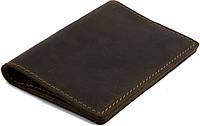 Кожаная обложка-книжка для документов Black Brier ОП-2-33 коричневая