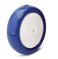 Колесо с диском из полиамида-6 и синим полиуретаном, диаметр 125 мм. Серия 41