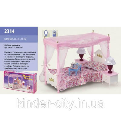 Комната Барби 2314 Кровать кор-ка 33х18см
