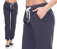 010fdc1b Серые темные спортивные брюки женские штаны трикотажные на резинке (манжет)