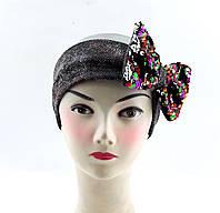Оптом повязки детские с 52 по 58 размер повязка детская головные уборы для девочки с пайетками, фото 1