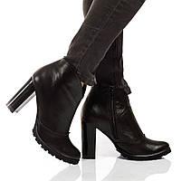 Ботинки на каблуке, из натуральной кожи, замша на молнии. Три цвета! Размеры 36-41 модель S2905, фото 1