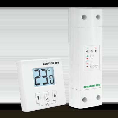 Комнатный термостат Auraton 200 RTH - беспроводной - суточный