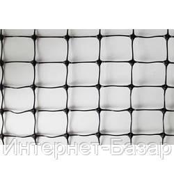 Сетка пластиковая вольерная Клевер 12*14, 1*50, черная
