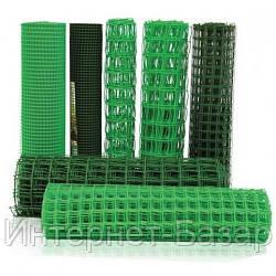 Сетка пластиковая для забора Клевер 85*95, 1*20, темно-зеленая