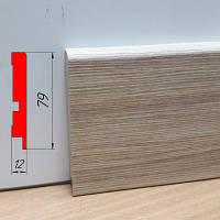 Плинтус МДФ для детской, высотой 79 мм, 2,8 м Зебрано песочный, фото 1