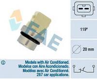Датчик температуры охлаждающей жидкости VW Caddy II 1.4-1.9TDi 95- (2 конт.) (119°С), код 35310, FAE