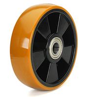 Колеса полиамид/желтый полиуретан, диаметр 125 мм
