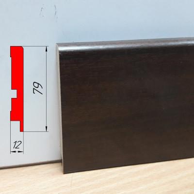Плинтус МДФ для паркета, высотой 79 мм, 2,8 м Леон классик