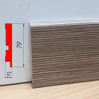Плинтус для пола, из МДФ, высотой 79 мм, 2,8 м Модрина