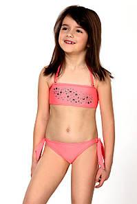 Размер 128 Купальник детский раздельный Lorin 77 (original) открытый для девочки