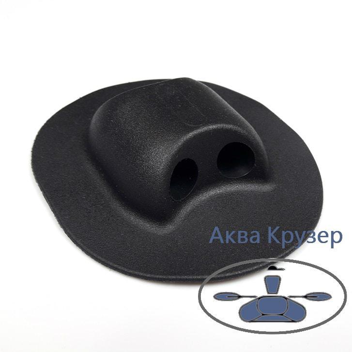Держатель леера концевой, цвет черный для надувной лодки ПВХ