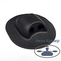 Держатель леера концевой, цвет черный для надувной лодки ПВХ, фото 1