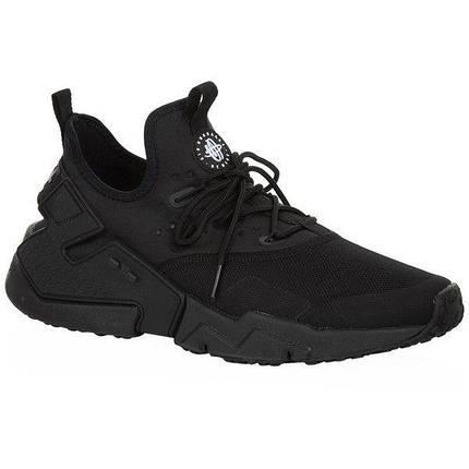 Найки мужские NIKE AIR HUARACHE ULTRA Drift Premium All Black черные, фото 2