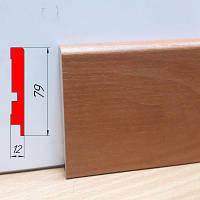 Плинтус из МДФ влагостойкий, высотой 79 мм, 2,8 м Ольха