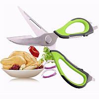 Потужні Кухонні Ножиці Багатофункціональні 10 в 1 + Чохол з Магнітом