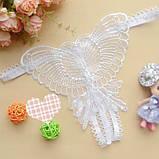 Белоснежные трусики с разрезом украшенные бабочкой, фото 3