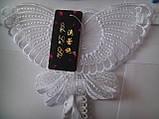 Белоснежные трусики с разрезом украшенные бабочкой, фото 6