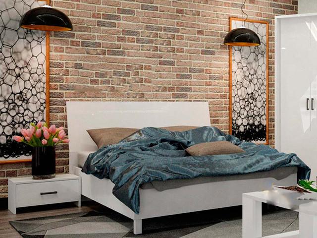 Ліжко з ДСП/МДФ в спальню Рома 1,6х2,0 підйомне з каркасом Миро-Марк