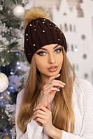 Женская шапка «Модена» Коричневый