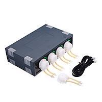 JEBAO DP-4S 4 канала Риф Аквариум Перистальтическое дозирование Насос Автоматический дозатор
