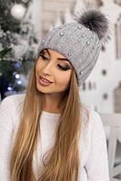 Женская шапка «Модена» Светло-серый