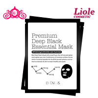 Одноразовая маска Lioele Eveness Premium Deep Black Essential Mask