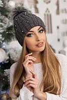 Женская шапка «Модена» Темно-серый