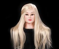 Учебная голова 30% натуральных волос, длина 75 см