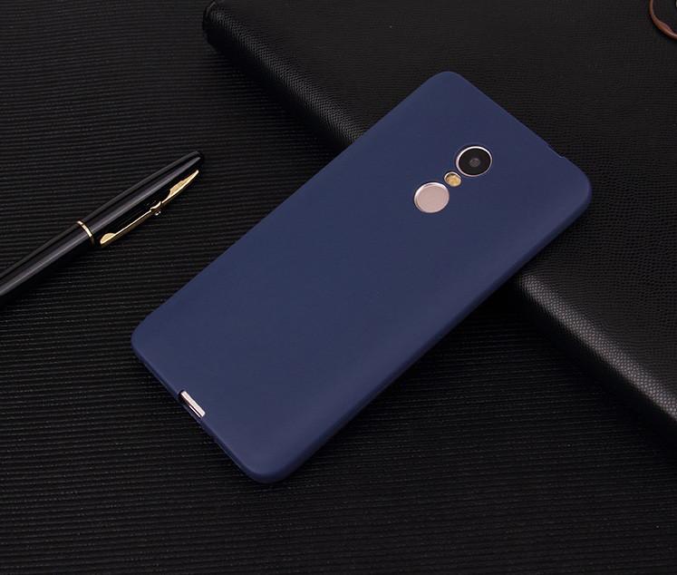 Чехол Xiaomi Redmi 5 5.7'' силикон soft touch бампер темно-синий - интернет-магазин МагниТ в Киеве