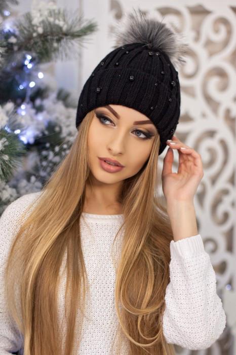Женская шапка «Модена» Черный