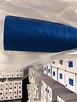 Алькантара самоклеющаяся синяя для салона авто 152х100