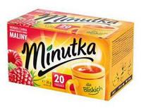 Чай чорний в пакетиках зі смаком малини Minutka 20шт (12шт/ящ)