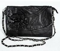 Женская сумочка-клатч. Модель № 001-1. Цвет черный.