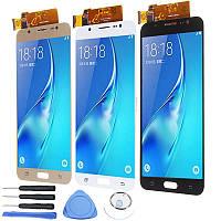 Полная сборка LCD Дисплей+Дигитайзер с сенсорным экраном Замена с ремонтом Набор Для Samsung Galaxy J7 2016