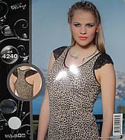 Майка борцовка женская леопард