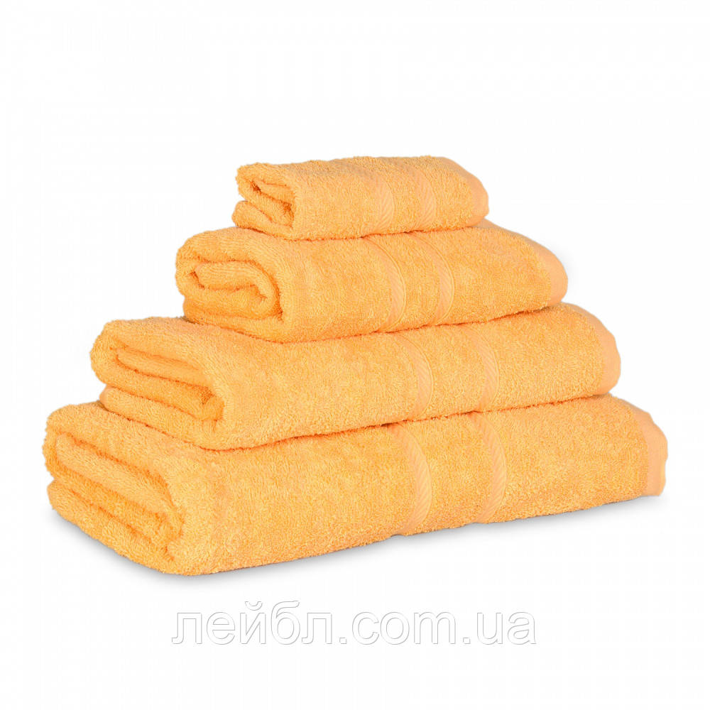 Махровое полотенце Luxury, Желтый (Сауна 85*145см)